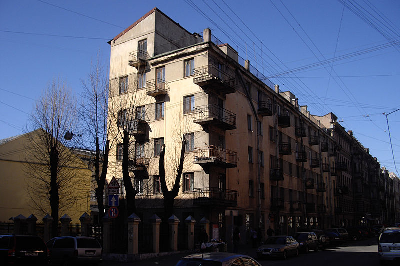 Дом-коммуна инженеров и писателей. Автор фото: Potekhin (Wikimedia Commons)