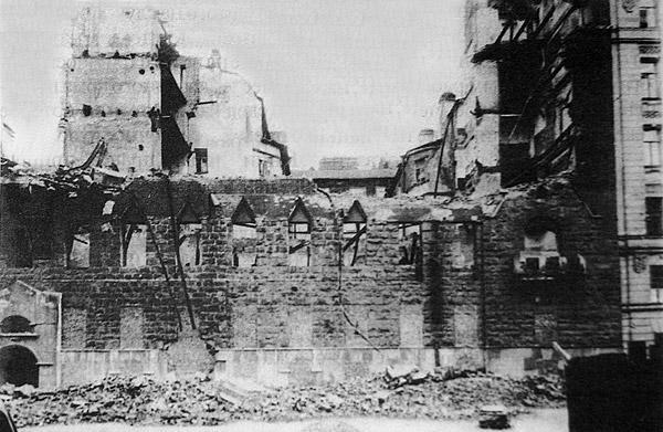 """""""Дом-Сказка"""" после пожара. Фото 1943 г. (citywalls.ru)"""