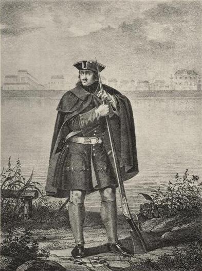 Фузелёр Л.-Гв. Преображенского полка, с 1700 по 1720 г. (Wikimedia Commons)