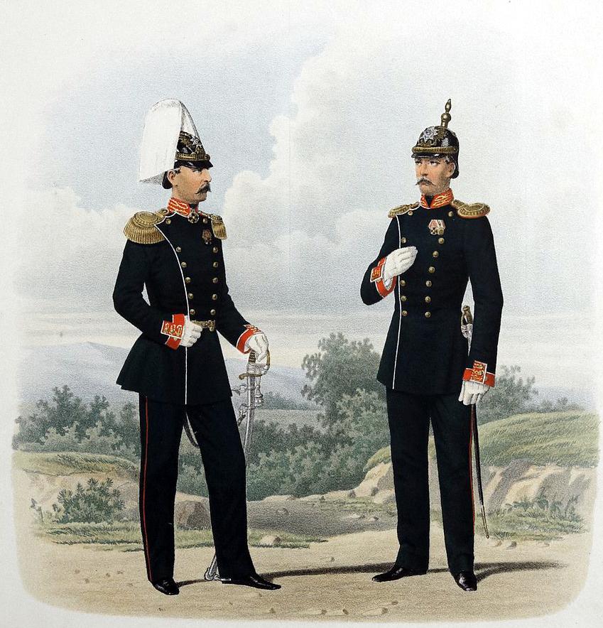 Губарев П. К. Штаб-офицер и Обер-офицер Преображенского полка. 1872 г. (Wikimedia Commons)