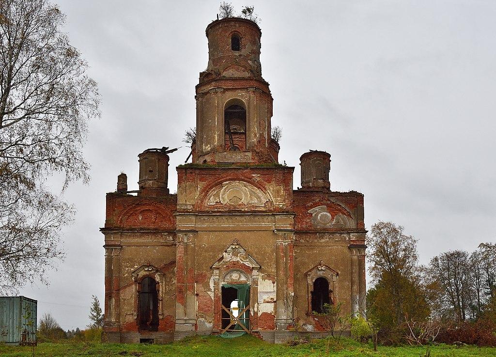 Церковь Рождества Христова: кладбище, Колчаново, Ленинградская область. Фото: Ludvig14
