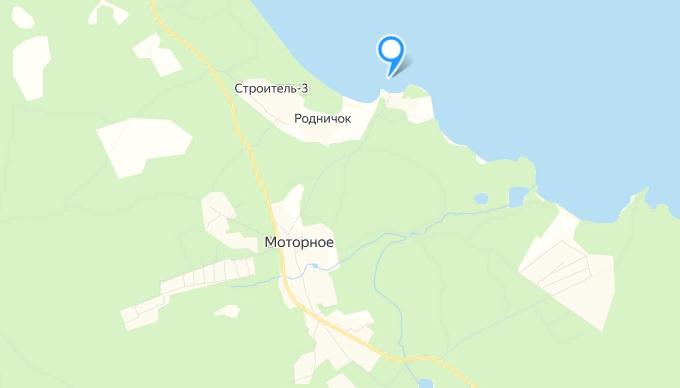 """Маяк """"Вуохенсало"""" в бухте Моторная. Скрин: карта Яндекс"""