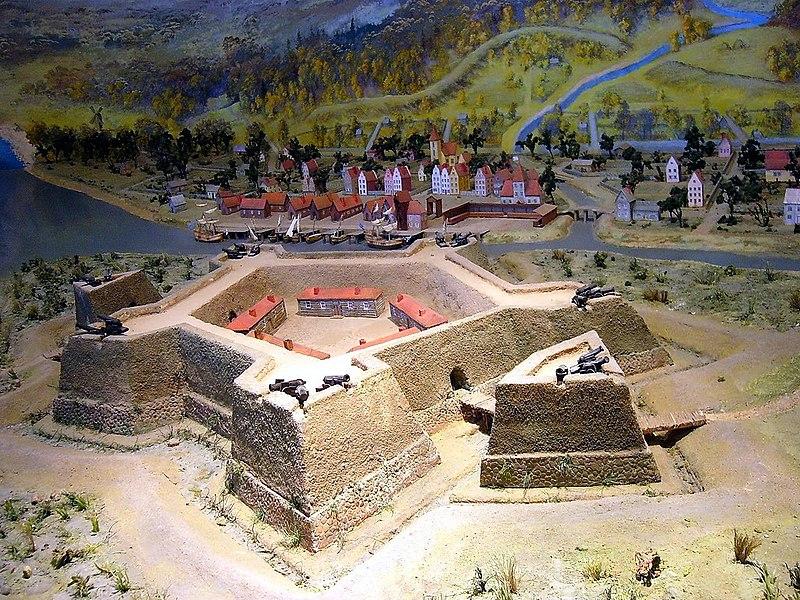 Макет крепости Ниеншанц в музее. Фото: Evgeny Gerashchenko (Wikimedia Commons)