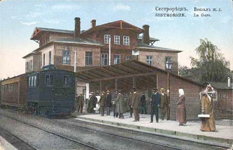 Виды г.Сестрорецка на открытках до 1917 года. ЖД вокзал