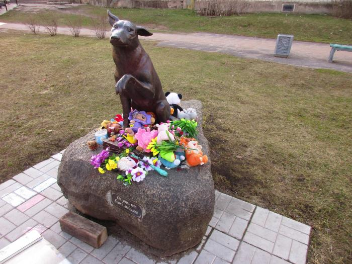 Новая Ладога, памятник собаке. Фото: novaya-ladoga.wikimapia.org