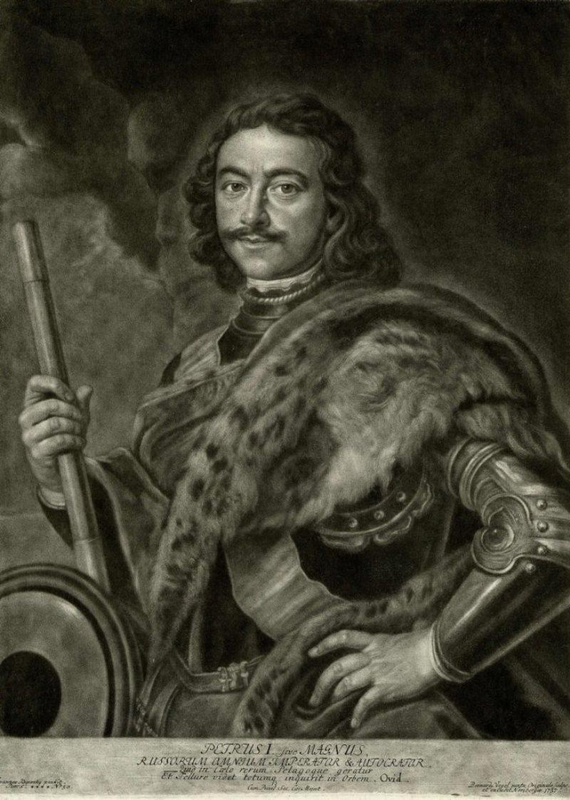Портрет работы Иоганна Купецкого (1667-1740), писан с натуры в Карлсбаде, 1711 г.