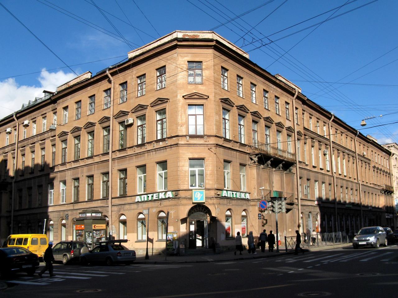 Доходный дом А. Х. Пеля, Моховая, 22. Фото: citywalls.ru