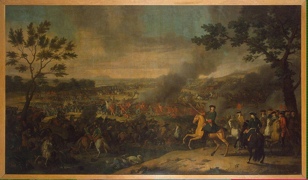 Пётр I в Полтавской битве. Л. Каравак, 1718 г.