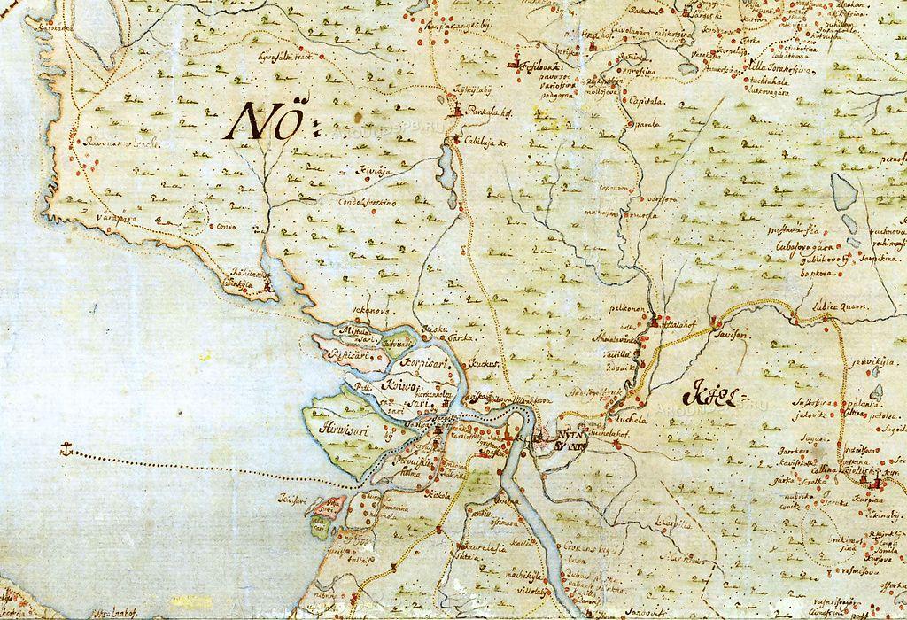 """Карта местности """"до Петербурга"""" 1678 г."""