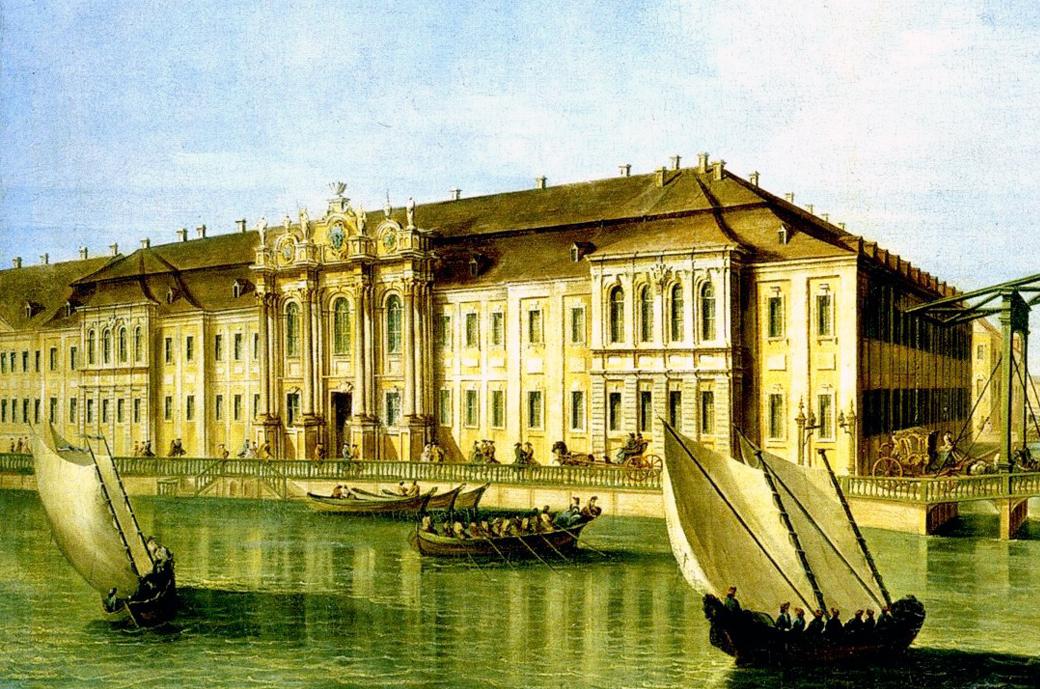 Неизвестный итальянский художник, по рисунку М. И. Махаева. Вид Зимнего дворца Петра I