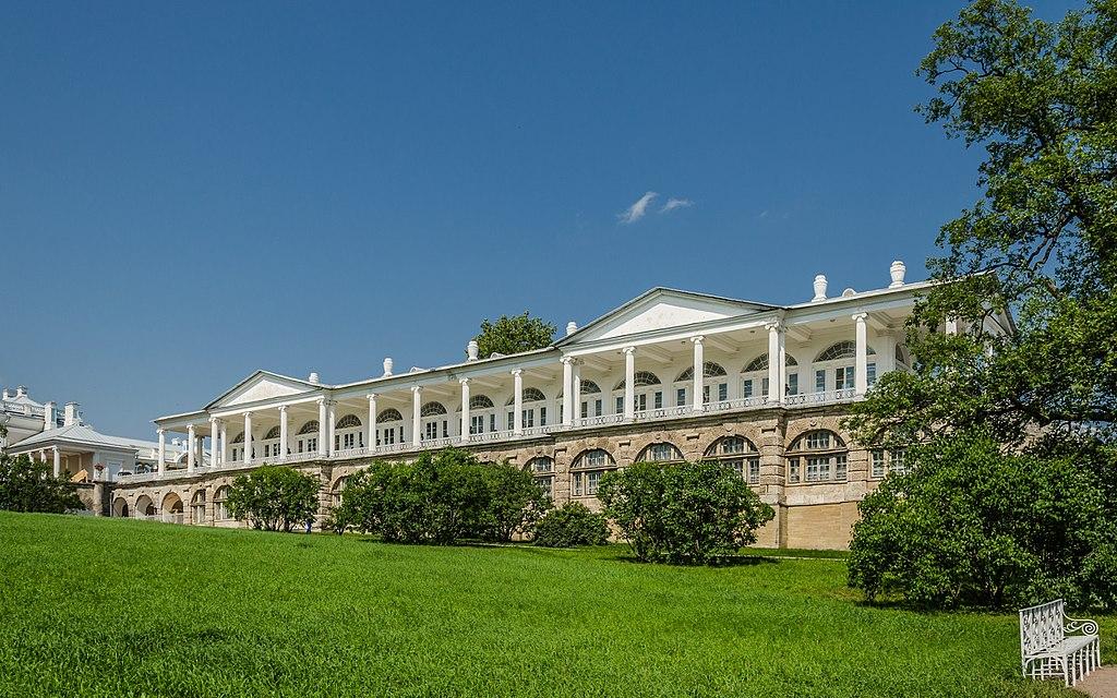 Камеронова галерея в Екатерининском парке Царского села. Фото: Florstein (WikiPhotoSpace)