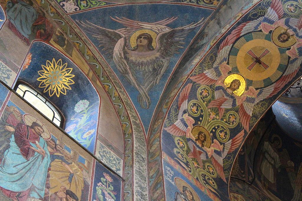 Собор Воскресения Христова на Крови (Спас на Крови) в Санкт-Петербурге. Интерьеры и мозаика. Фото: Deror_avi (Wikimedia Commons)