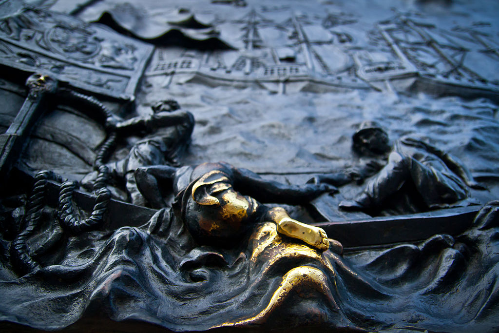 Элемент барельефа памятника у Михайловского замка. Фото: Mihail Grishagin (Wikimedia Commons)
