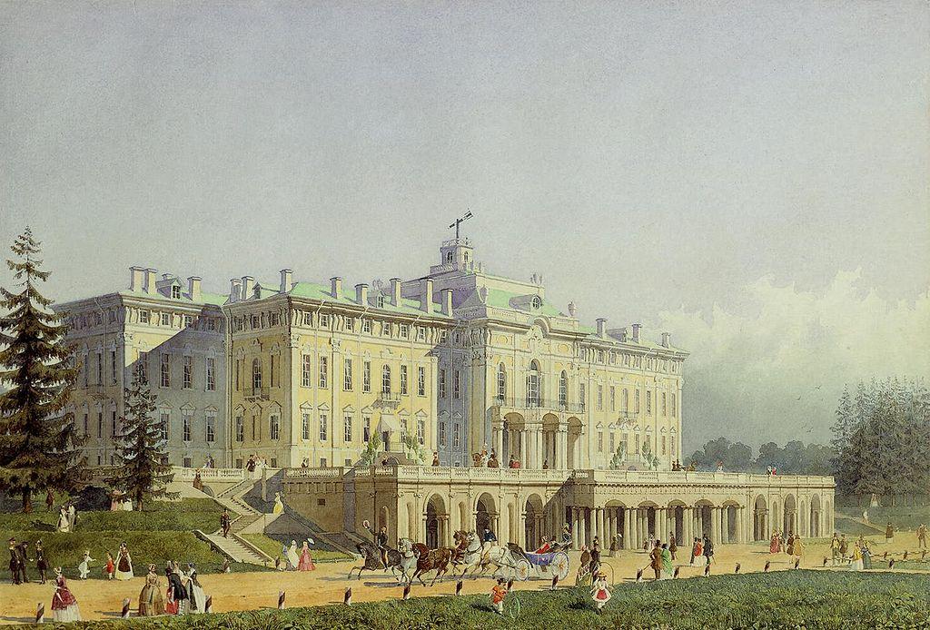 Константиновский дворец в 1847 г. Автор: художник Алексей Максимович Горностаев