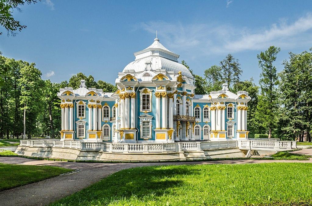 """Павильон """"Эрмитаж"""" в Екатерининском парке Царского села. Фото: Florstein (WikiPhotoSpace)"""