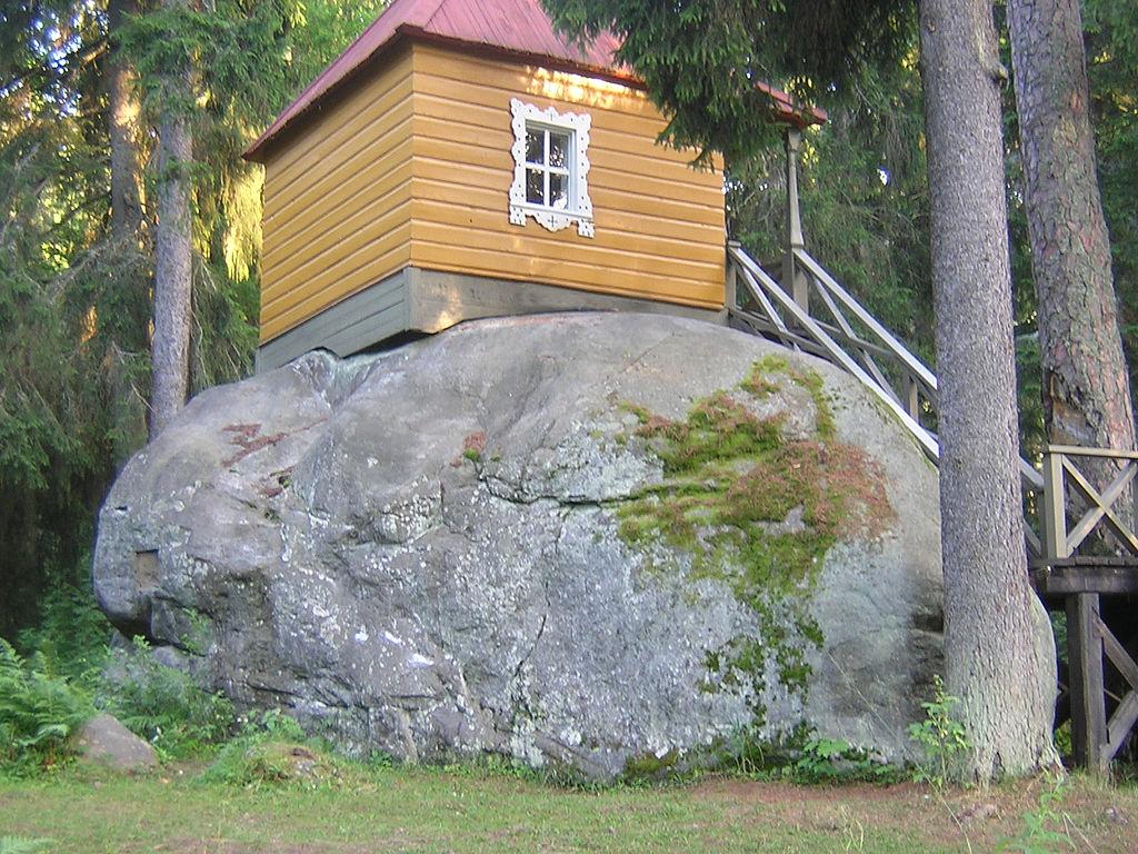 Конь-камень на острове Коневец. Ладожское озеро. Фото: Дар Ветер