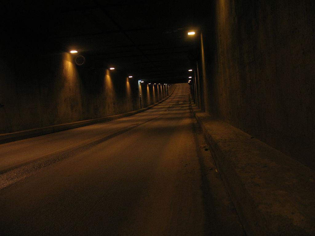 Тоннель между Канонерским и Гутуевским островами. Фото: Stassats (Wikimedia Commons)