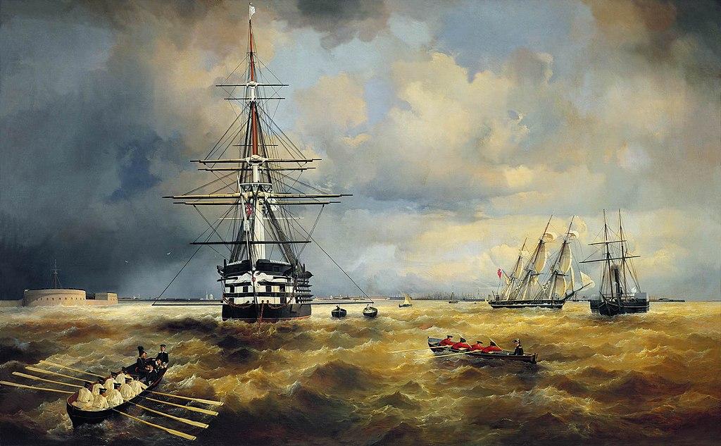 Кронштадтский рейд. И. К. Айвазовский. 1840 г.