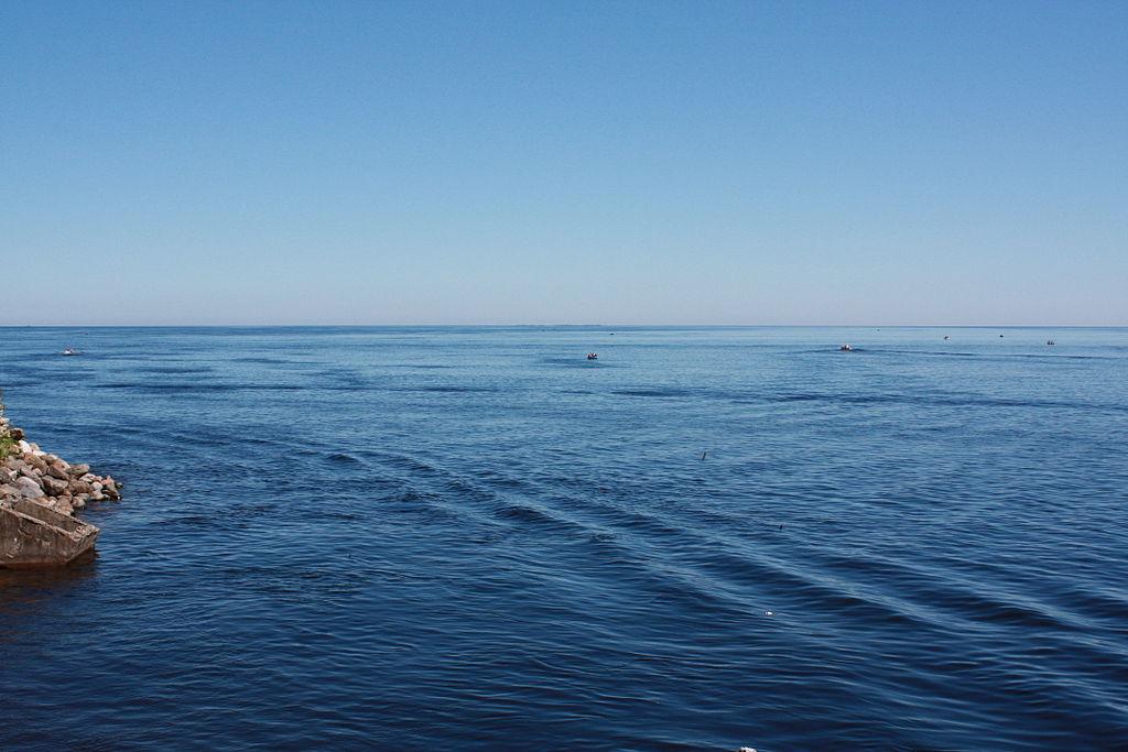 Ладожское озеро. Фото: Осенняя мгла