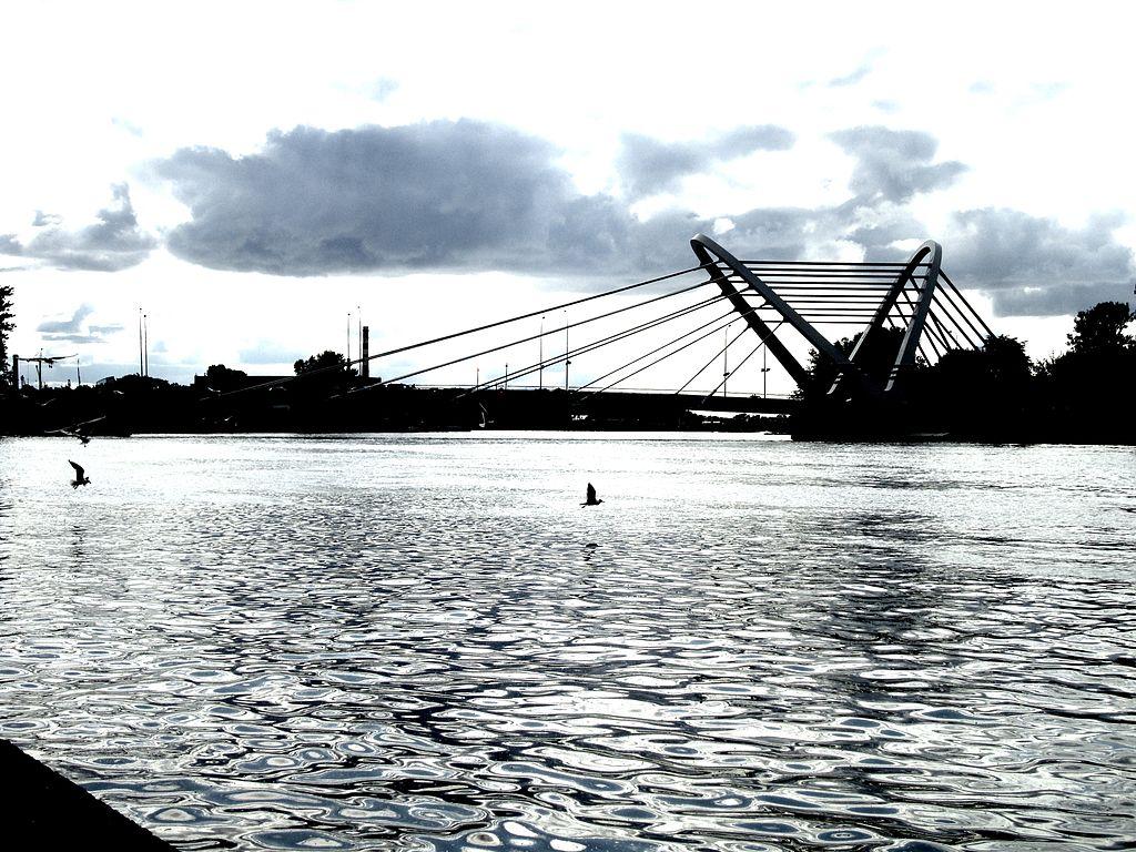 Вид моста с наб. адм. Лазарева. Фото: Каха (Wikimedia Commons)