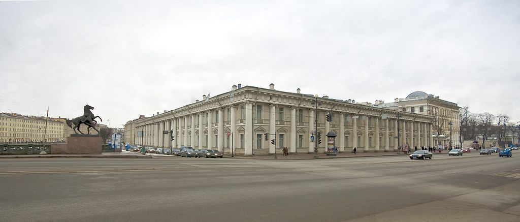 Аничков дворец. Фото: George Shuklin (Wikimedia Commons)