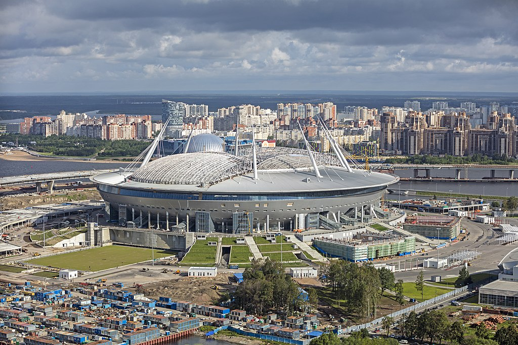 The Krestovsky Stadium, Krestovsky Island, Saint Petersburg, Russia. Author: Godot13