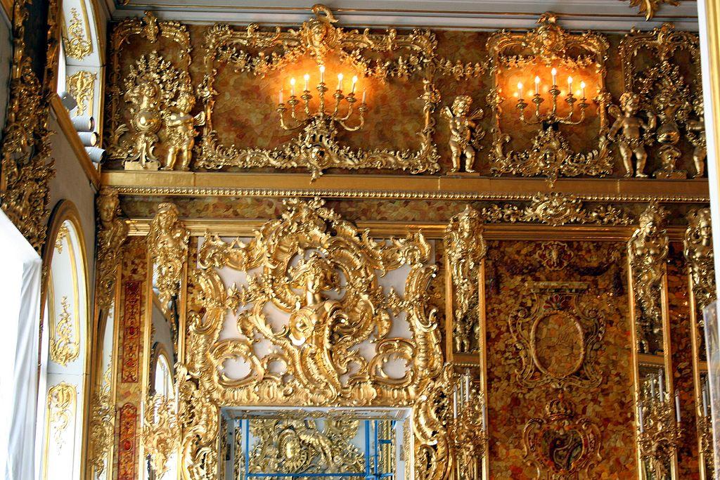 Янтарная комната. Фото: Sitomon (Wikimedia Commons)
