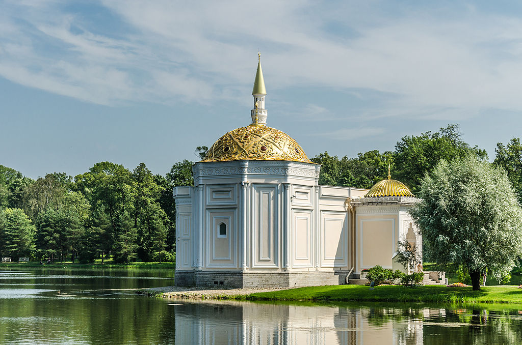 Павильон Турецкая баня в Екатерининском парке Царского села. Автор фото: Florstein (WikiPhotoSpace)