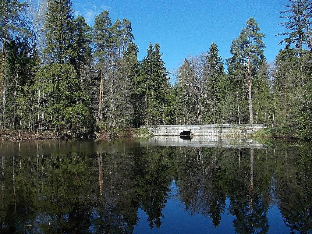 Верхний пруд в парке. Фото: Uz1awa (Wikimedia Commons)
