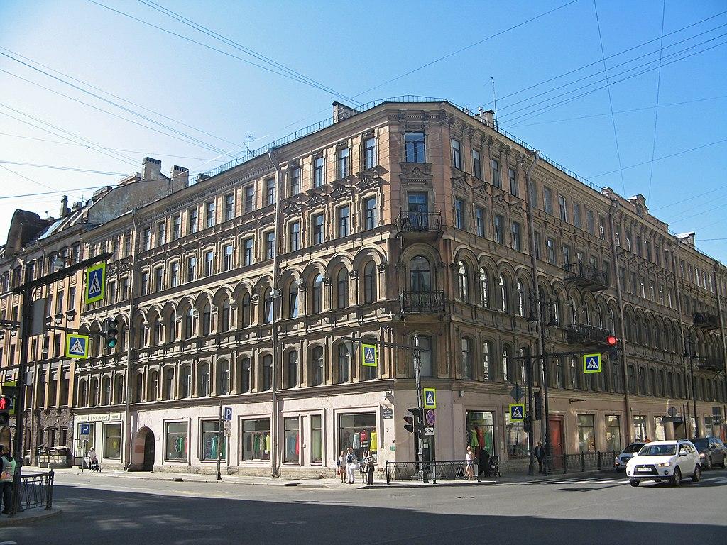 Дом, в котором в 1882-1890 гг. жил В. В. Стасов. Фото: Екатерина Борисова (Wikimedia Commons)