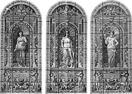Витражи в конференц-зале Академии художеств. 1873 г. Фото: citywalls.ru