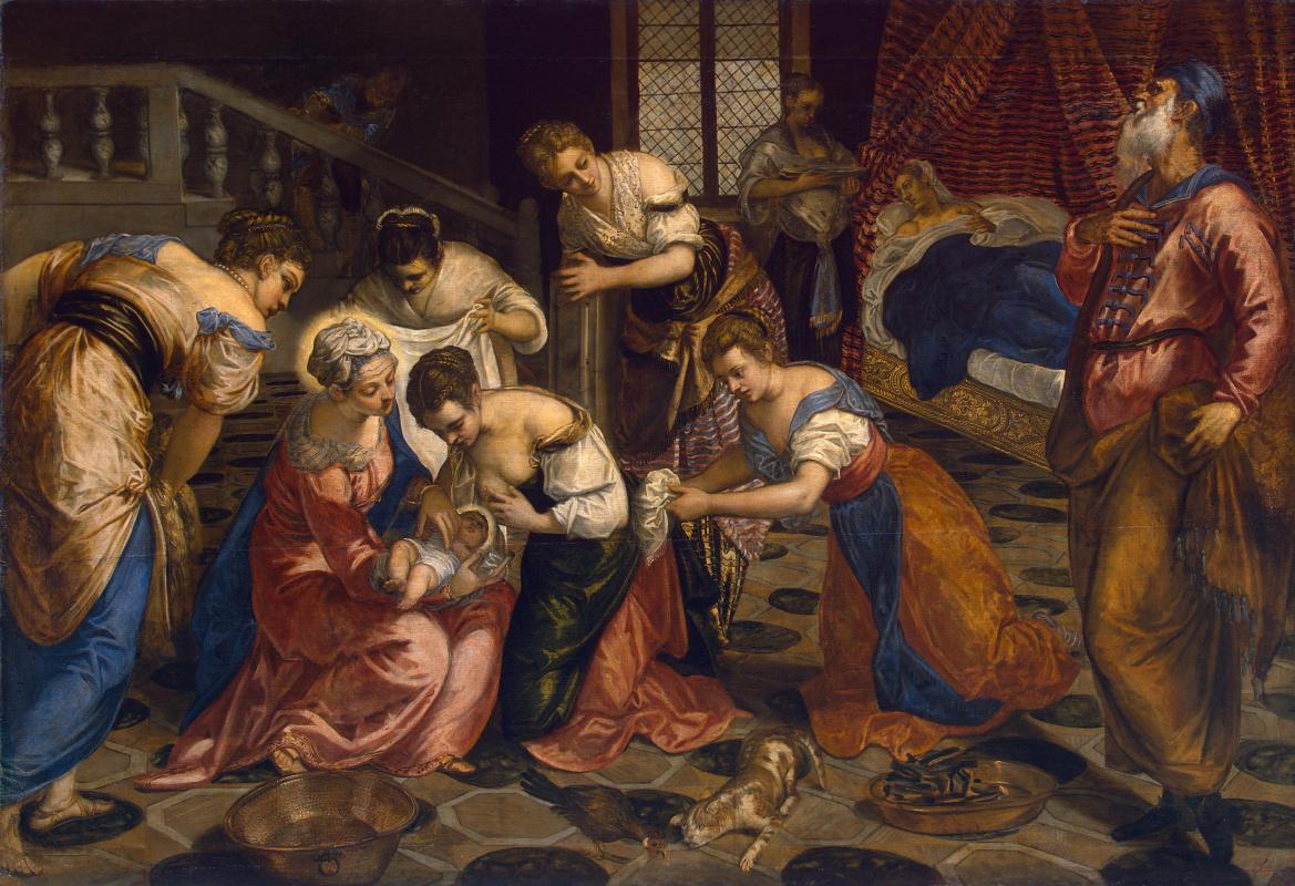 Рождение Иоанна Крестителя. (Якопо (Робусти) Тинторетто)