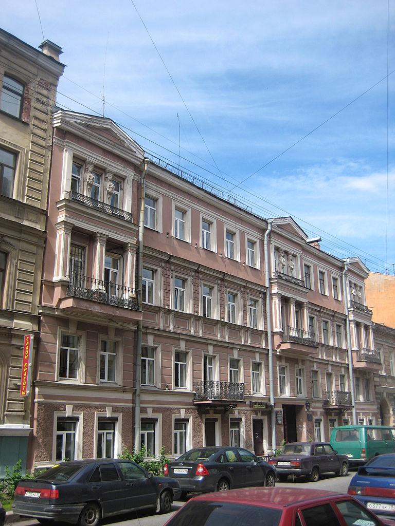 Дом Н. В. Латкина, Моховая, 11 Фото: Skydrinker (Wikimedia Commons)