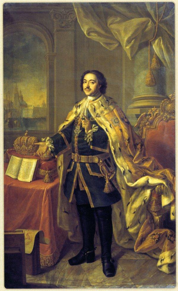 Алексей Антропов создал портрет Петра I в 1770 г.