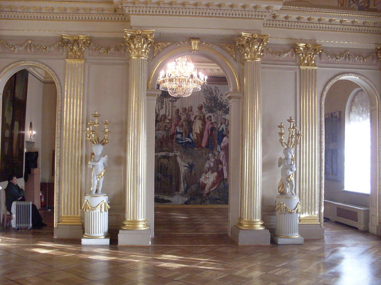 Меншиковский дворец, интерьеры