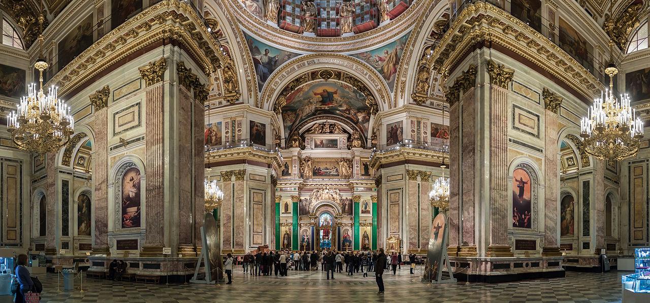Интерьер Исаакиевского собора.  https://commons.wikimedia.org/