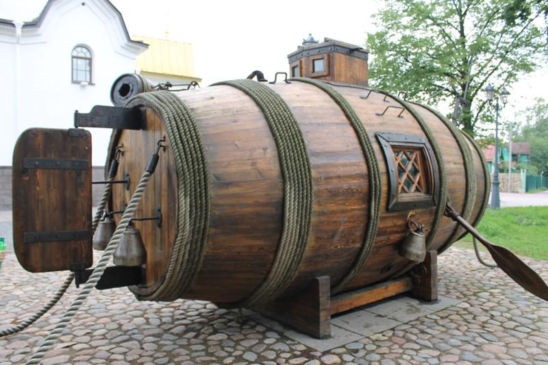 Образец разработки первой субмарины в виде бочки. Фото: vmflot.ru