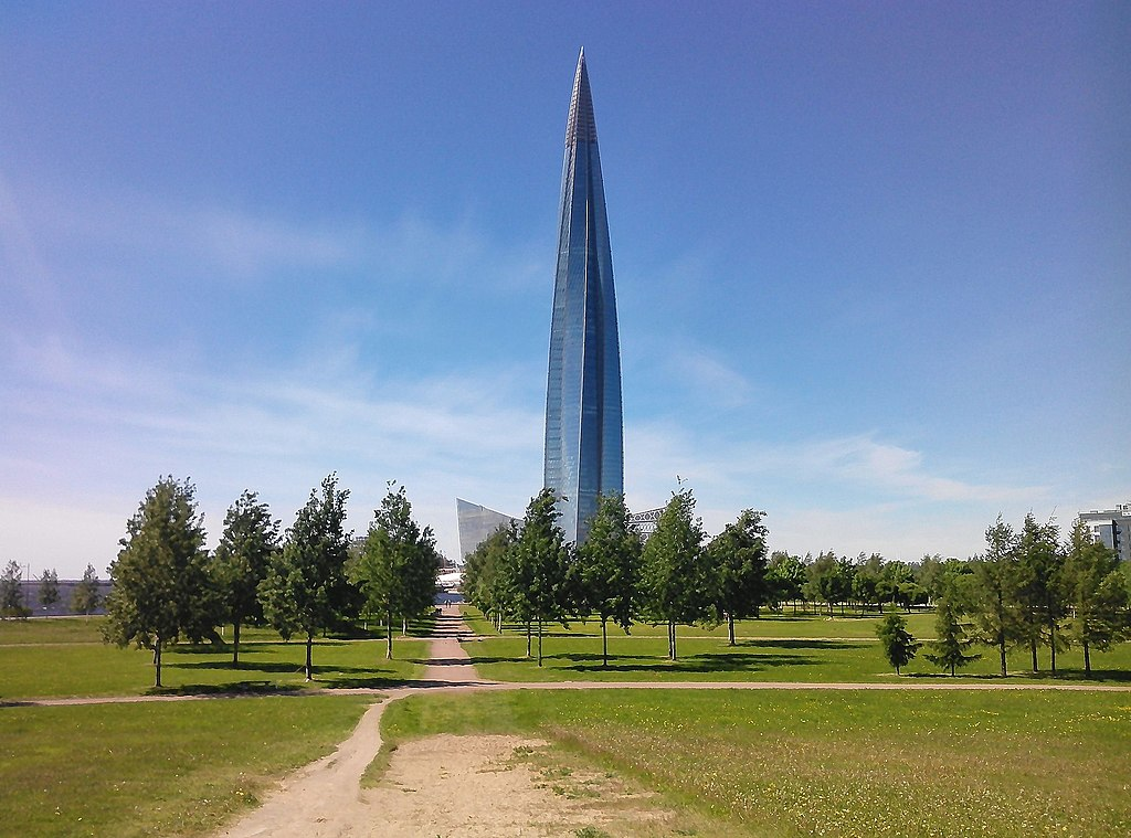 Приморский район. Вид из парка на Лахта-центр. Фото: Uz1awa