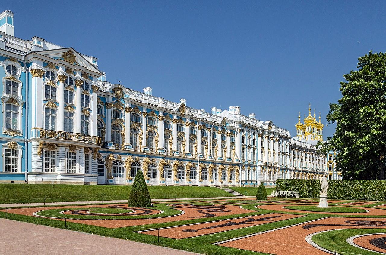 Екатерининский дворец в Царском селе. Автор фото: Florstein (WikiPhotoSpace)