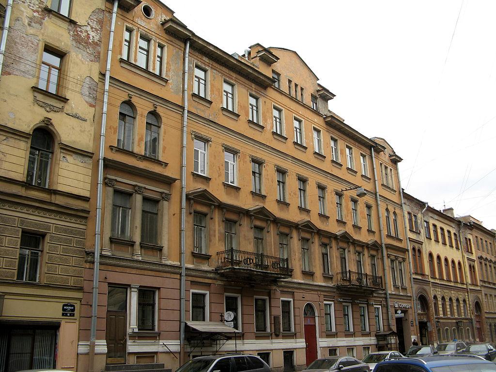 Доходный дом А. А. Ветошкиной, Моховая, 18. Фото: Екатерина Борисова (Wikimedia Commons)