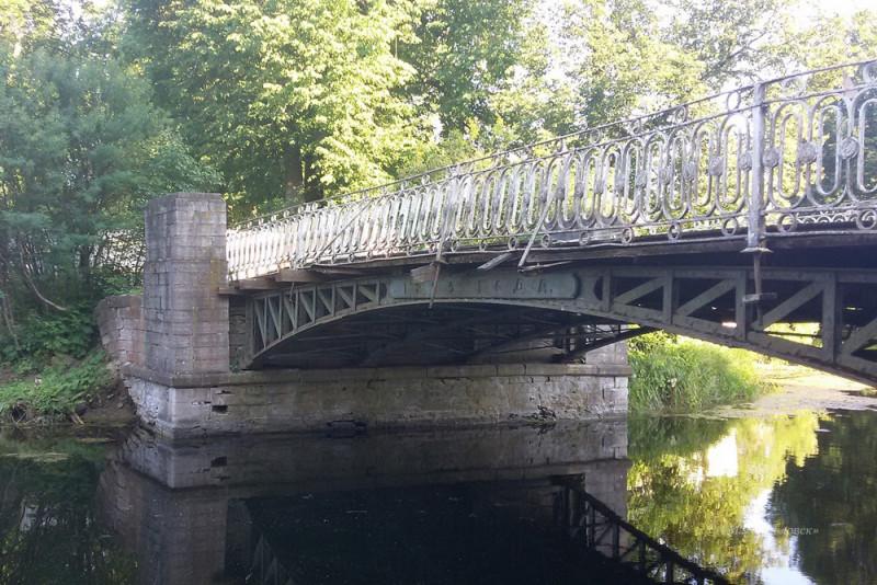 Олений мост в Павловске