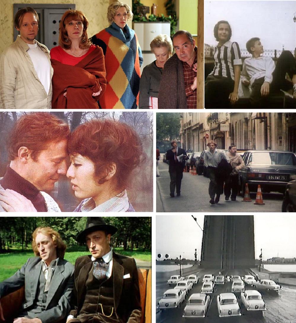 Коллаж кадров из 6 фильмов