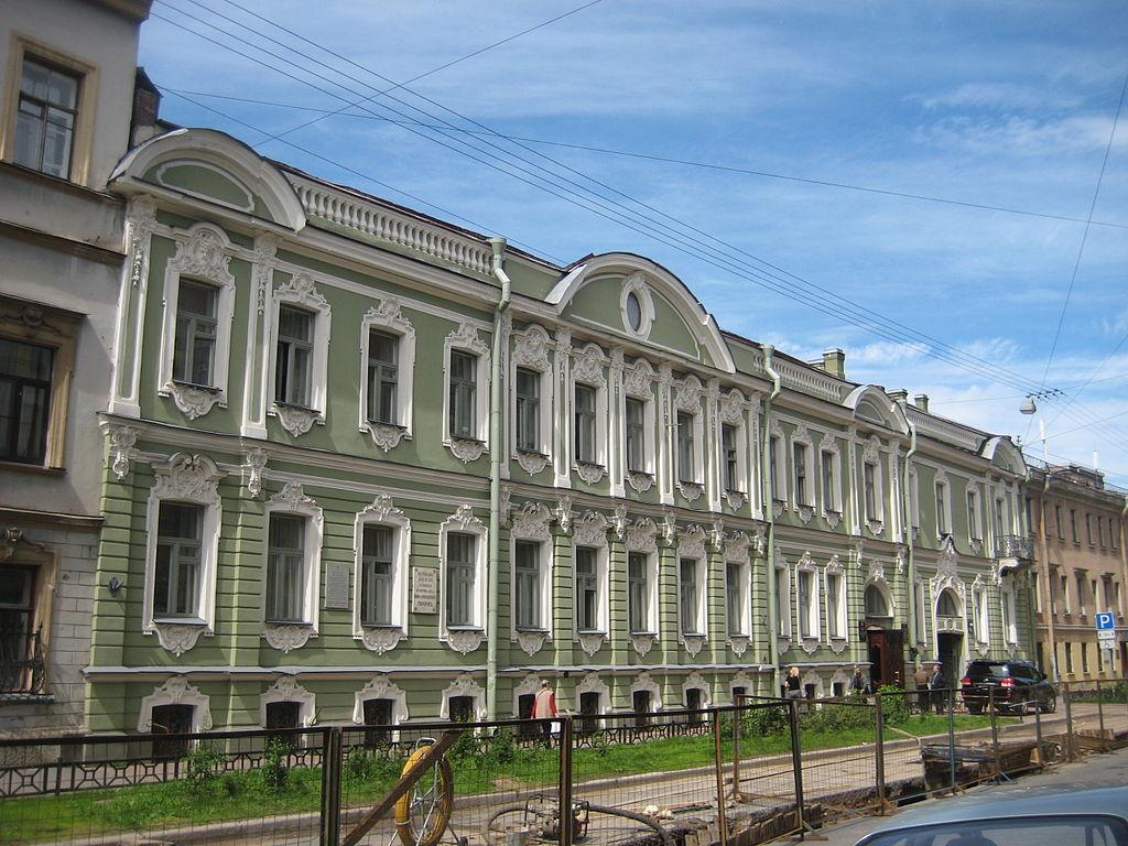 Особняк М. М. Устинова. Улица Моховая, 3. Фото: Skydrinker (Wikimedia Commons)