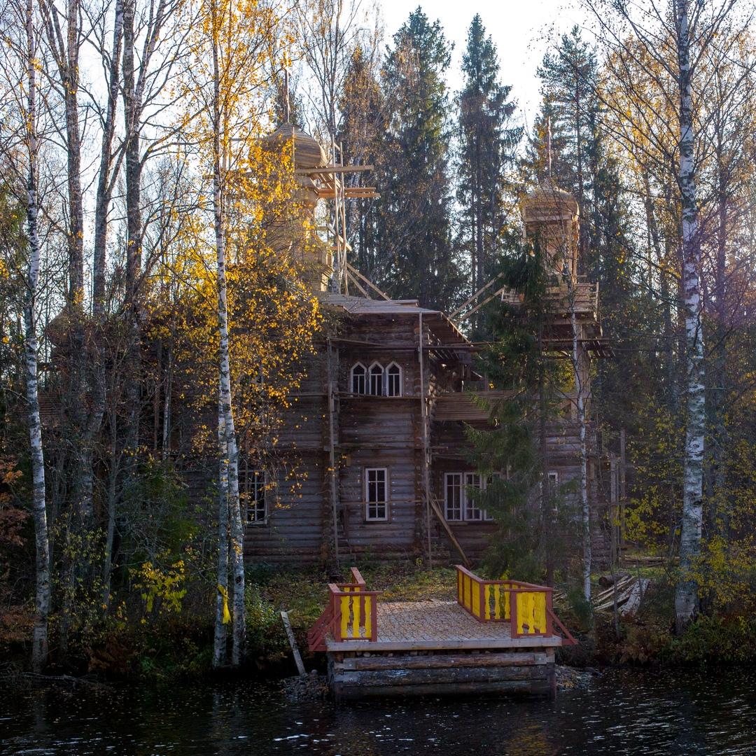 Церковь Елисея Угодника в деревне Верхние Мандроги. Фото: Леля   Мандрожская