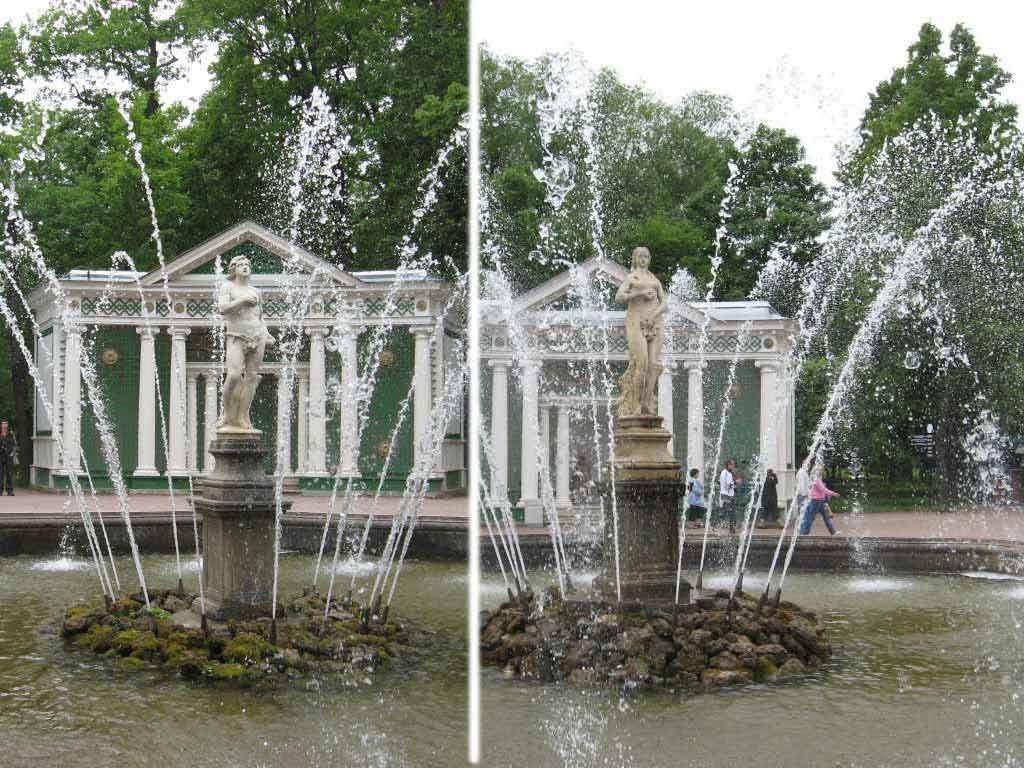 """Фонтаны «Адам» и «Ева» в Петергофе. Фото с сайта """"Мировед"""""""