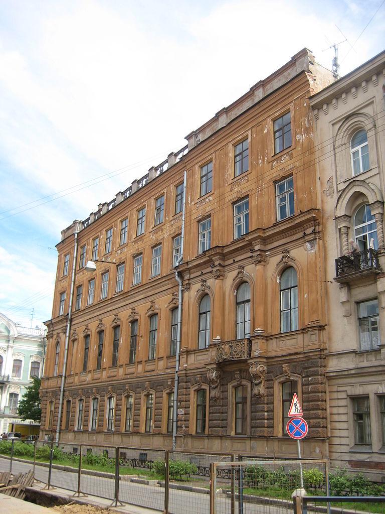 Дом Строгановых, Моховая, 2. Фото: Skydrinker (Wikimedia Commons)