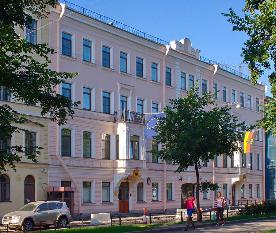Консульство Германии, Фурштатская улица, 39. Фото: Oleg Kovalenko (Mirabo) (Wikimedia Commons)