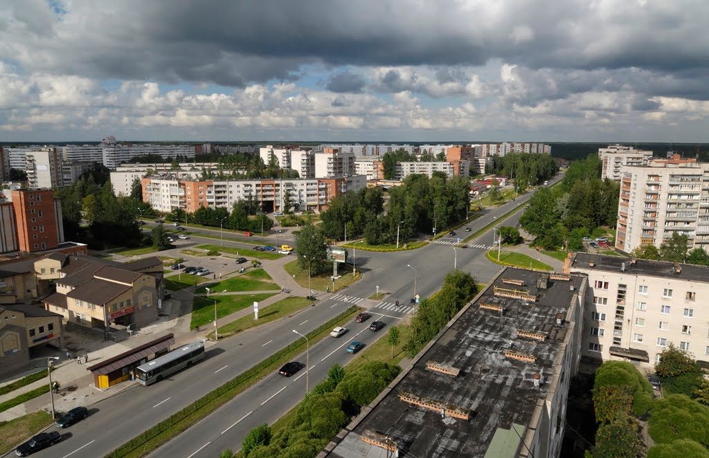 Вид на пр Героев в городе Сосновый Бор. Фото: Anry_photogoroda.com