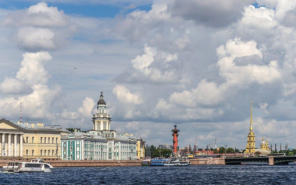 Стрелка Васильевского острова Фото: Florstein (WikiPhotoSpace)