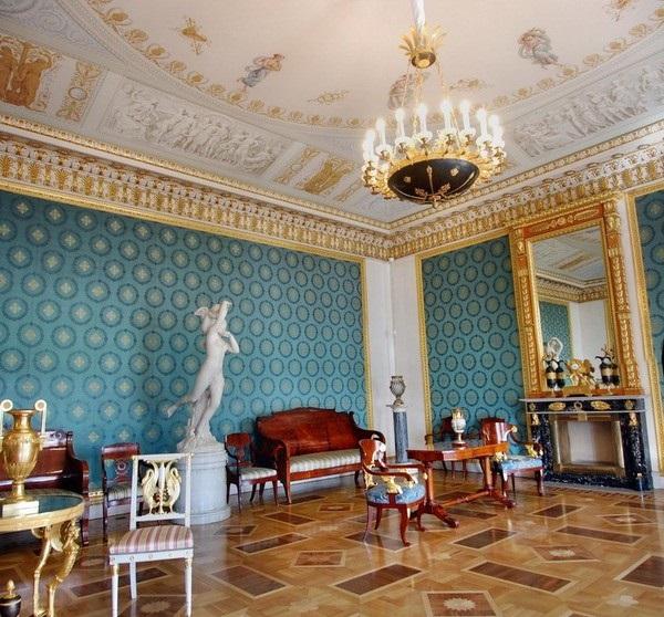 Камин в Голубой гостиной, Елагин дворец